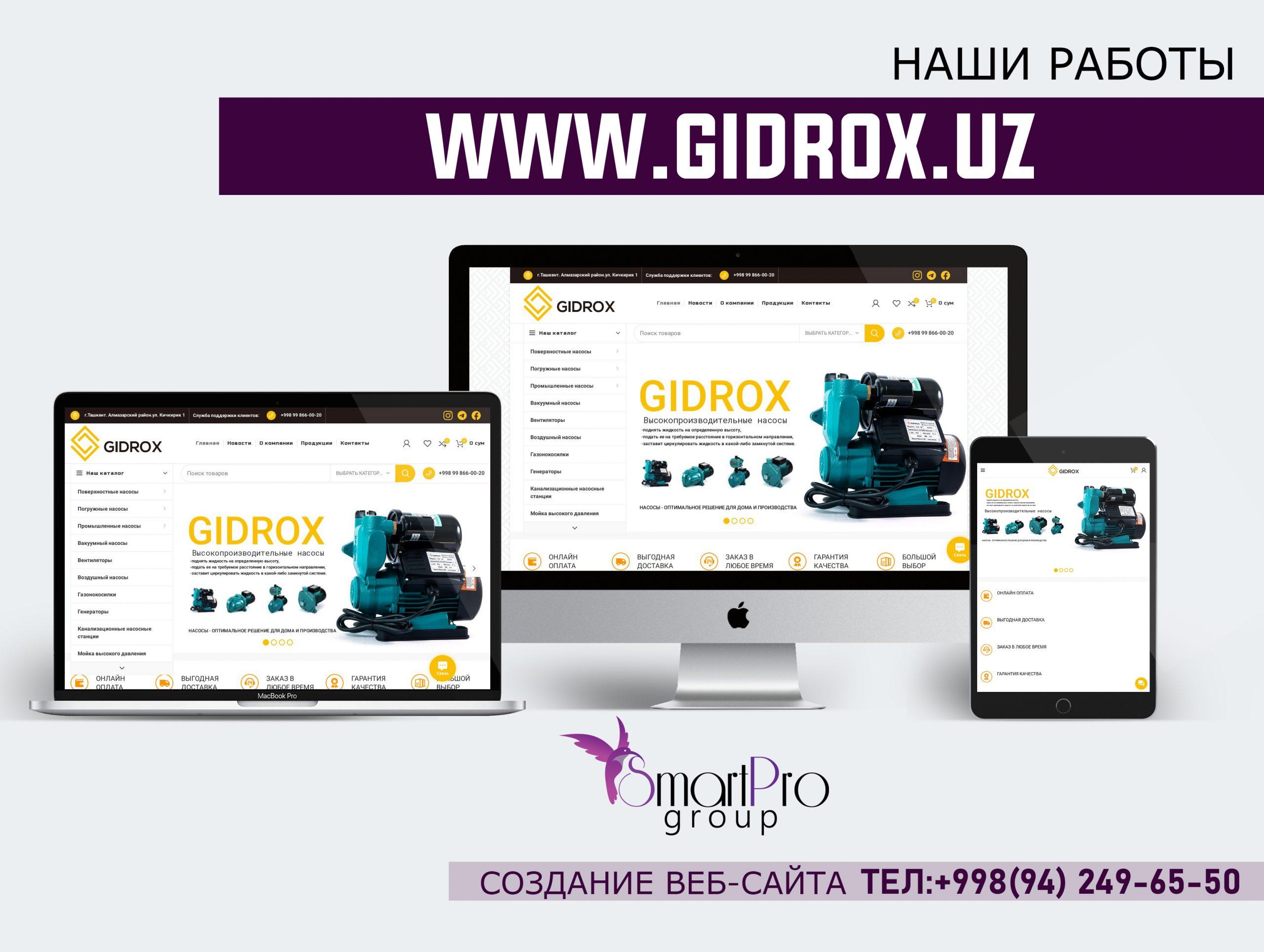 Создание интернет-магазина Gidrox. Насосы нового поколения